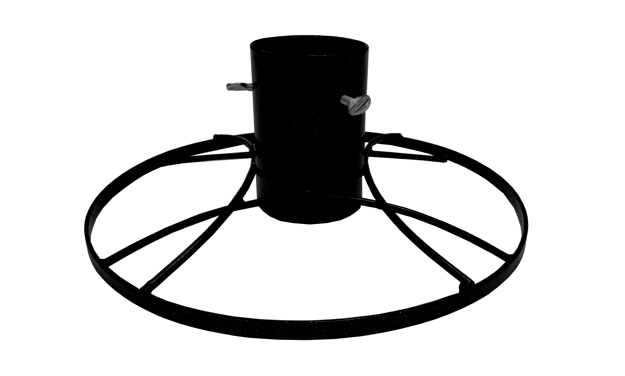 Bosmere Black Metal Christmas Tree Stand   4in
