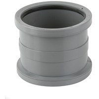 Brett Martin  Double Socket Soil Pipe Connector - 110mm