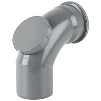 Brett Martin  Single Socket 92.5° Access Soil Pipe Bend - 110mm