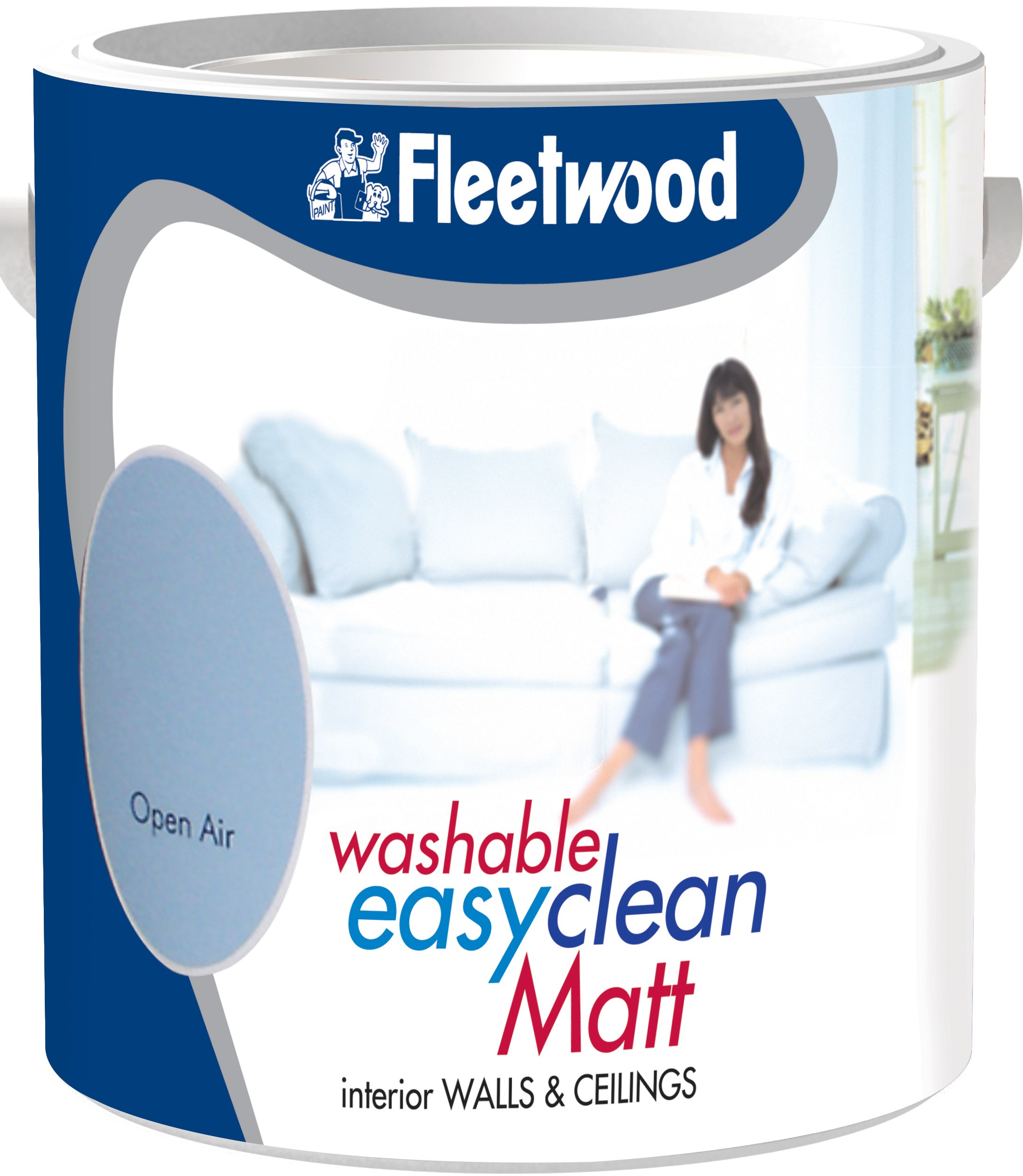 Fleetwood Washable Matt Colours Paint 5 Litre Coloured Emulsions