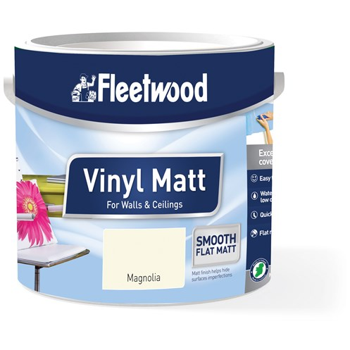 Fleetwood Colour for You Vinyl Matt Magnolia Paint - 2.5 Litre