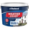 Fleetwood Weather Cover Smooth Masonry Brilliant White Paint - 10 Litre