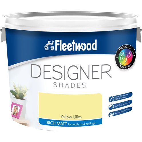 Fleetwood Designer Shades Vinyl Matt Colours Paint - 10 Litre
