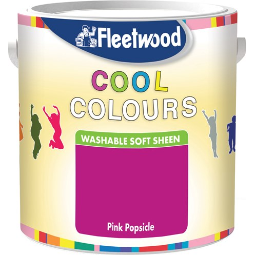 Fleetwood Cool Colours Washable Soft Sheen Colours Paint - 2.5 Litre