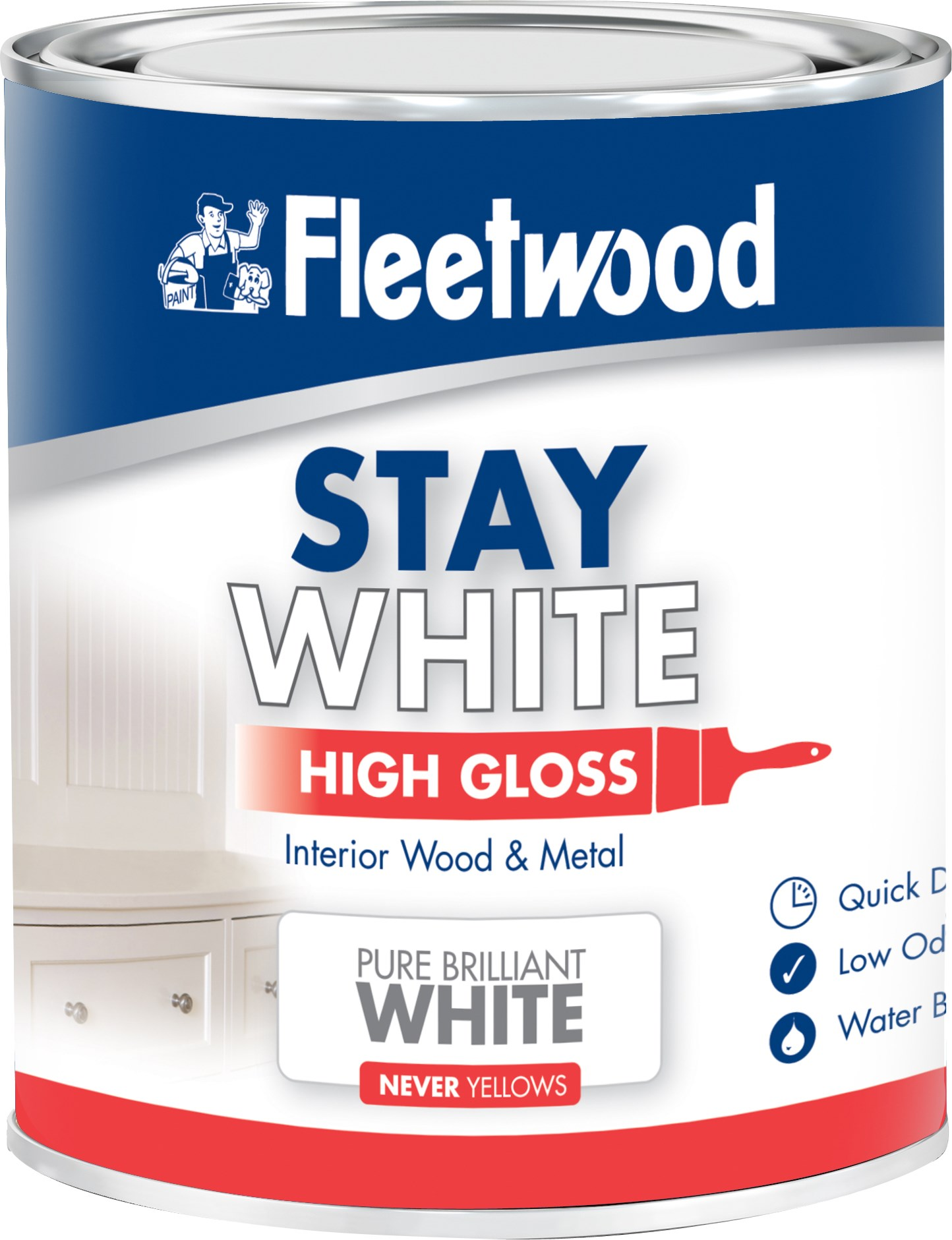 fleetwood high gloss pure white paint 750ml gloss. Black Bedroom Furniture Sets. Home Design Ideas