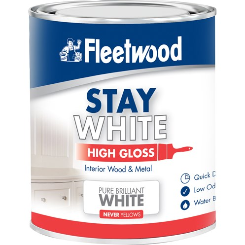 Fleetwood Stay White High Gloss Pure Paint 2 5 Litre