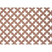 Applications  Screening Panel MDF Four Leaf Clover Pattern - Unfinished