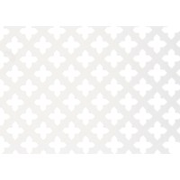 Applications  Screening Panel MDF Four Leaf Clover Pattern - White