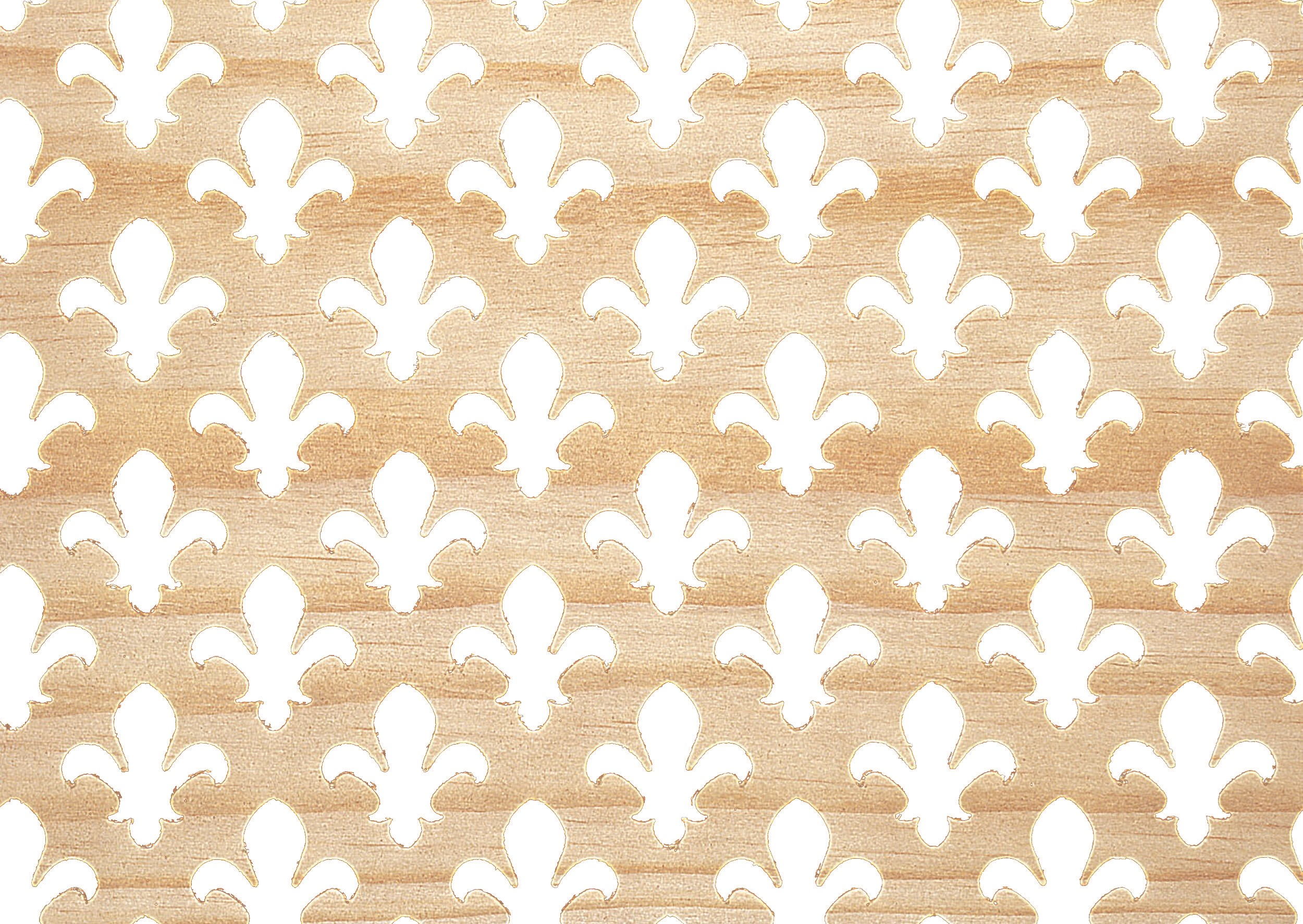 Applications  Screening Panel Fleur De Lis Pattern - Pine
