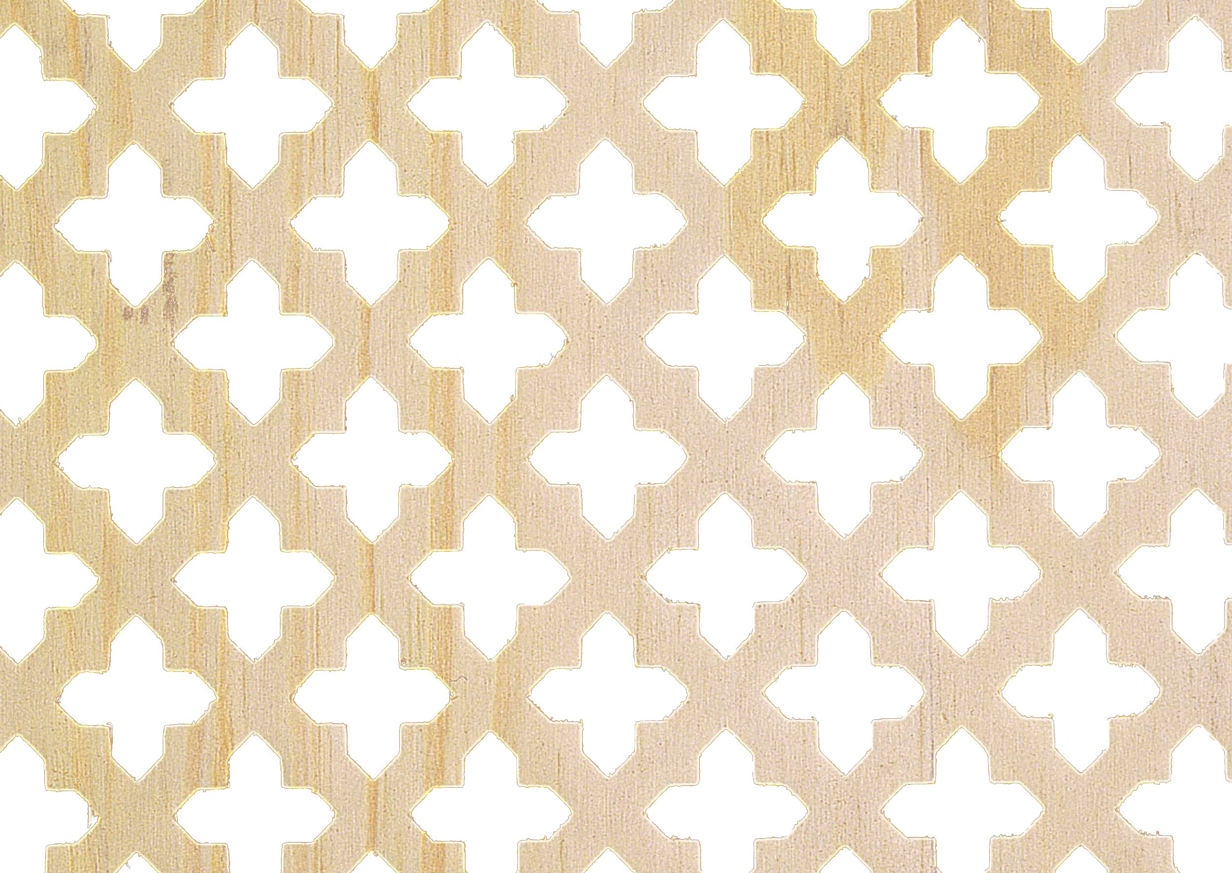 Applications  Screening Panel MDF Four Leaf Clover Pattern - Pine