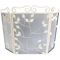 Sirocco The Collection 3 Fold Leaf Firescreen Country Cream