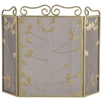 Sirocco The Collection 3 Fold Leaf Firescreen - Green