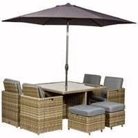 Royalcraft  Wentworth Rattan 8 Seater Cube Set