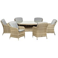 Royalcraft  Wentworth Rattan 6 Seater Oval Set