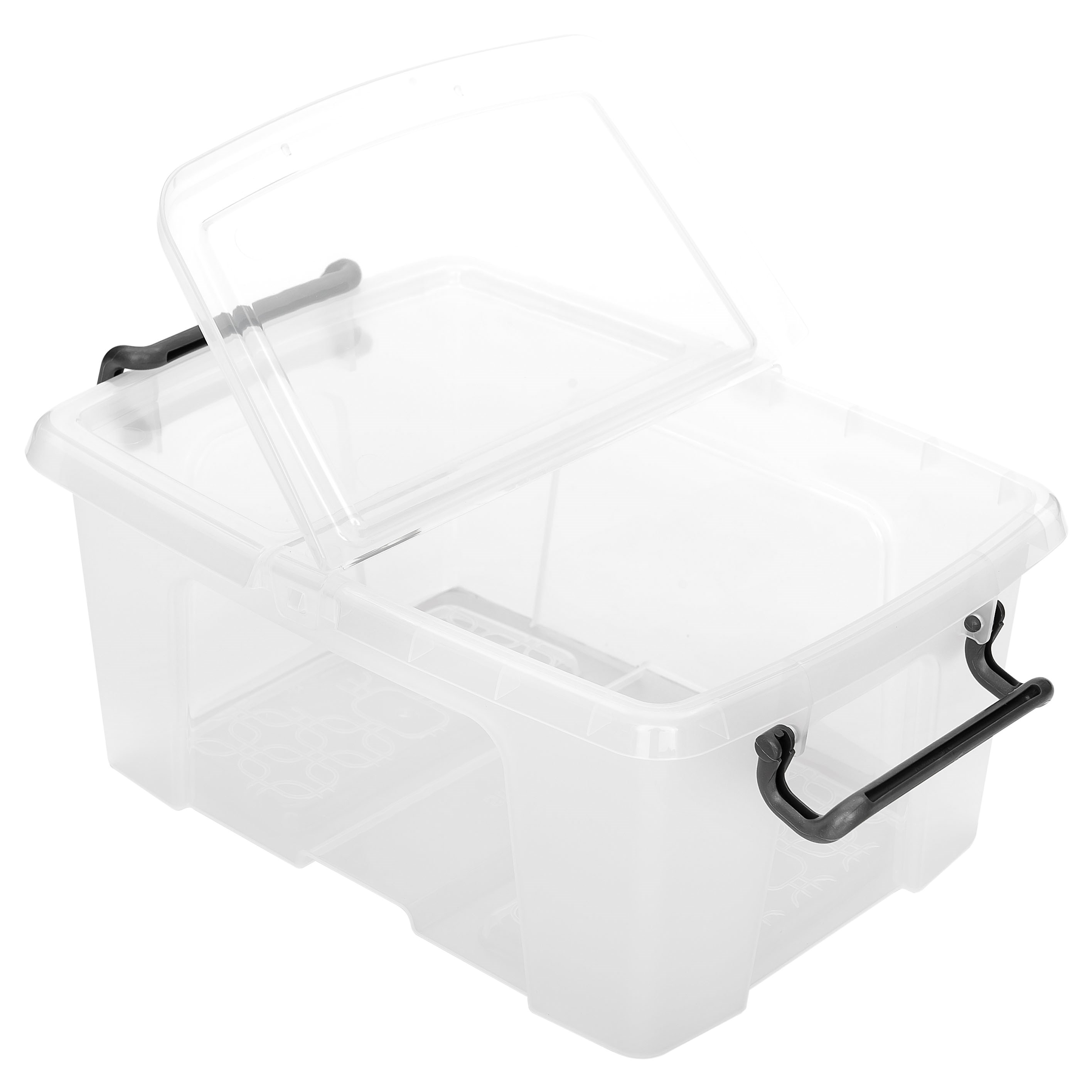 Strata  Smart 12 Litre Storage Box with Lid - Clear