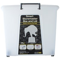 Strata  Smart 75 Litre Storage Box with Lid - Clear