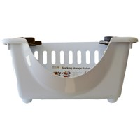 Strata  Stacking Basket White/Graphite