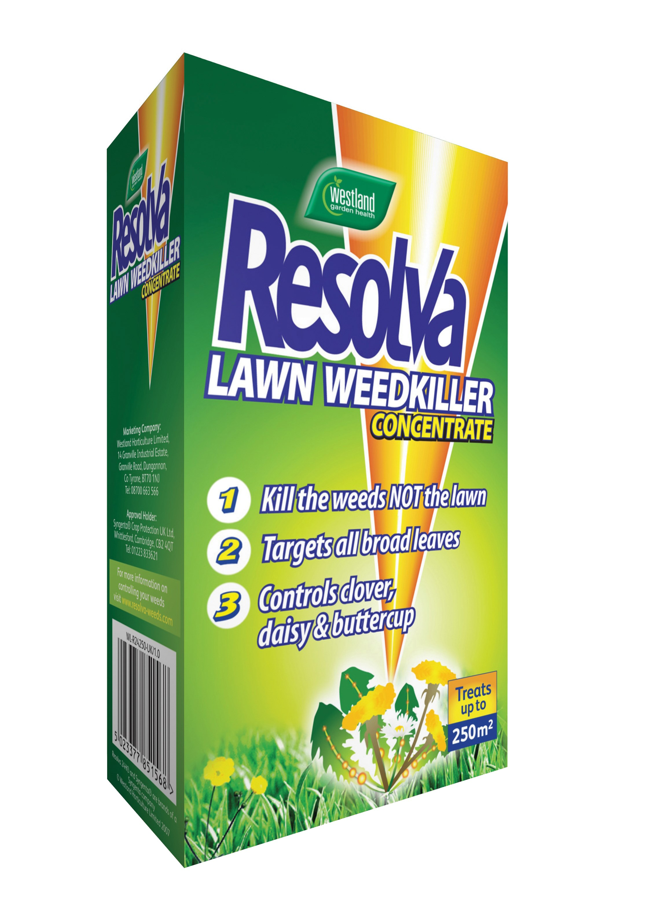Westland Resolva Lawn Weed Killer Concentrate - 250ml