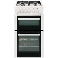 Beko  Freestanding Twin Cavity LPG Gas Cooker White - BDG582
