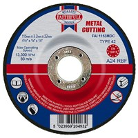 Faithfull  Cut Off Disc for Metal with Depressed Centre