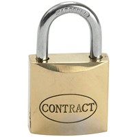 Faithfull Contract Brass Padlock