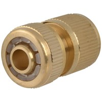Faithfull  Brass Female Water Stop Connector - 1/2in
