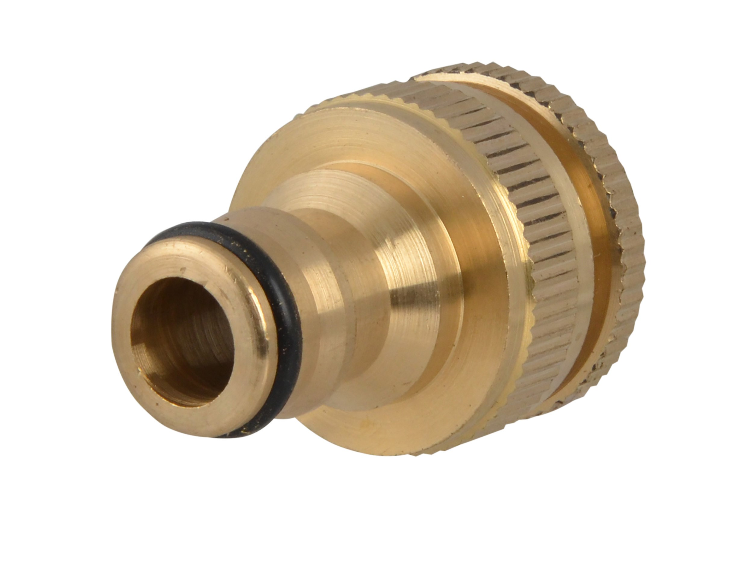 Faithfull  Brass Dual Tap Connector - 1/2in & 3/4in