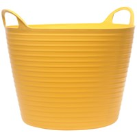 Faithfull  Heavy Duty Polyethylene Flex Tub - Yellow