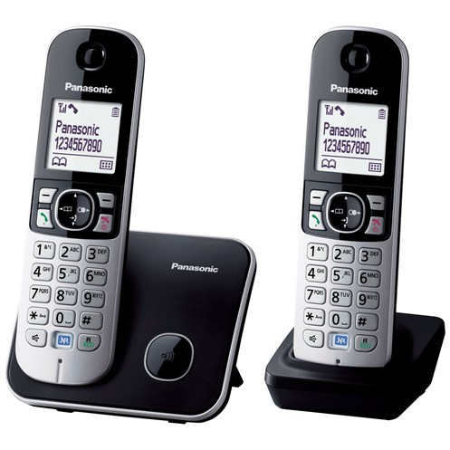 Panasonic  Twin Cordless Portable Phone - KX-TG6812
