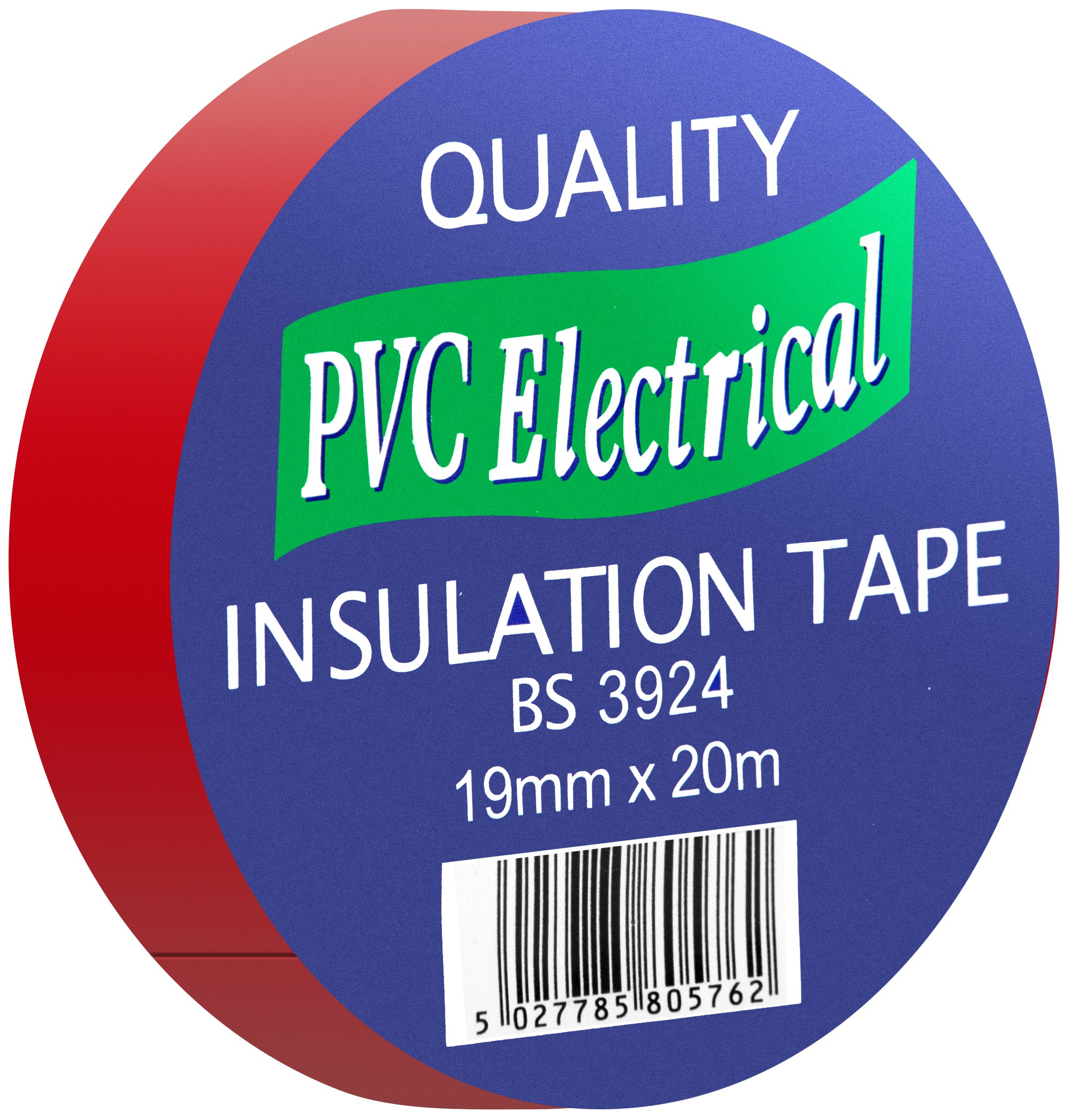 Quality PVC Insulating Tape Red - 19mm x 20m