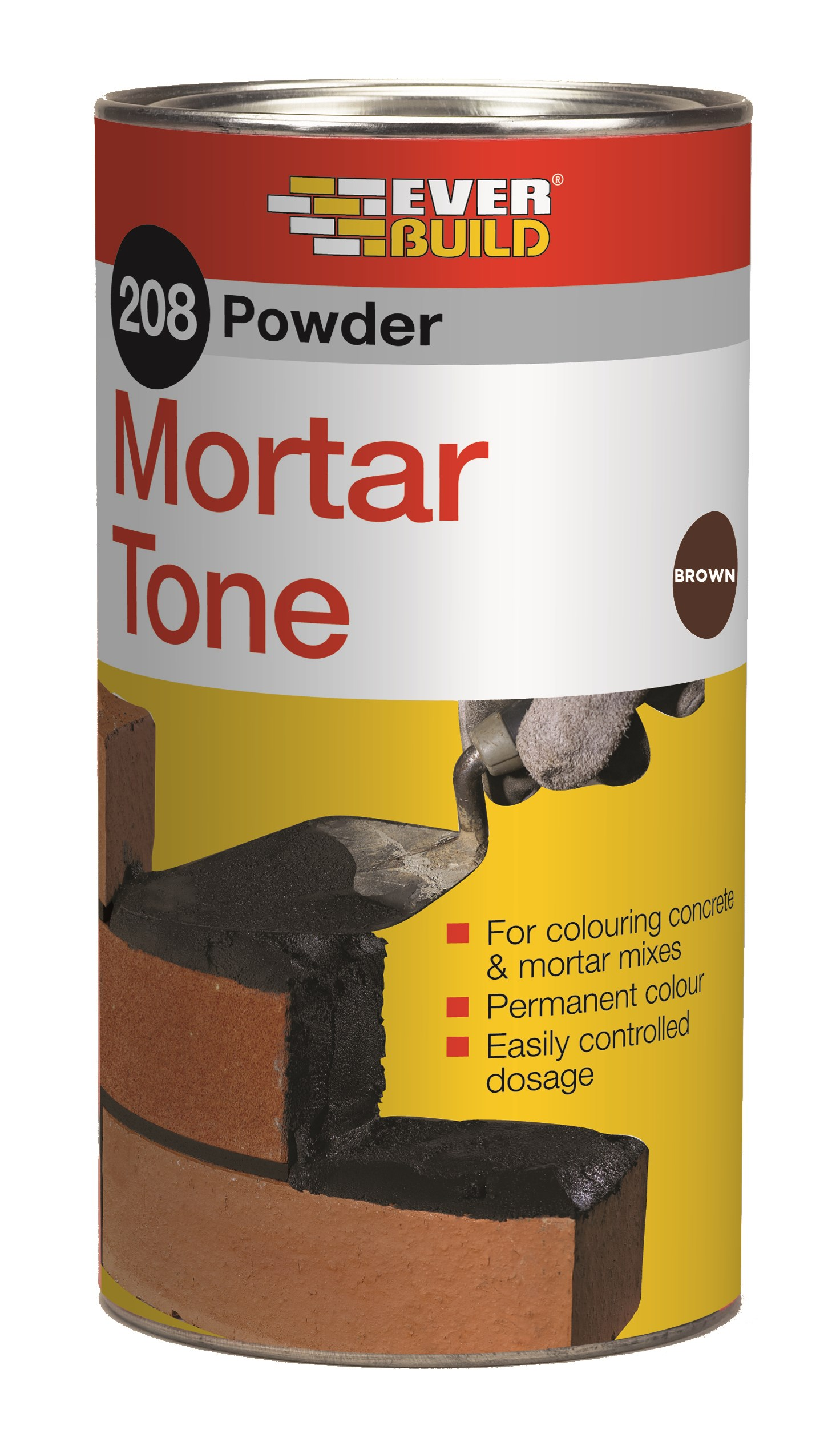 Everbuild  209 Powder Mortar Tone 1kg - Brown