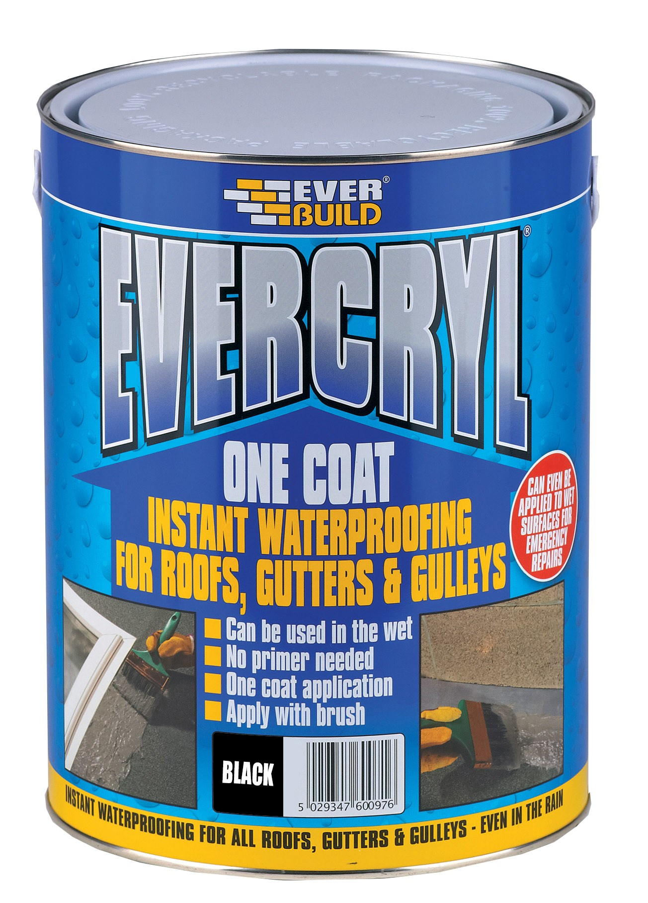 Everbuild Evercryl One Coat Waterproof Resin 5kg - Black