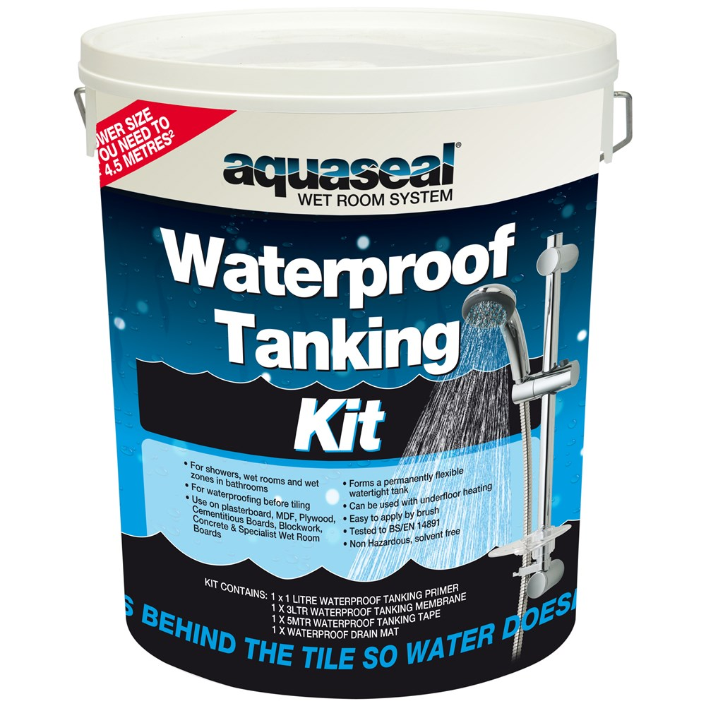 Everbuild Wet Room Tanking Kit - Standard | Tile Adhesives & Grout ...