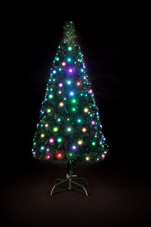 Snowtime Snowbright Colour Changing Led Christmas Tree 4ft
