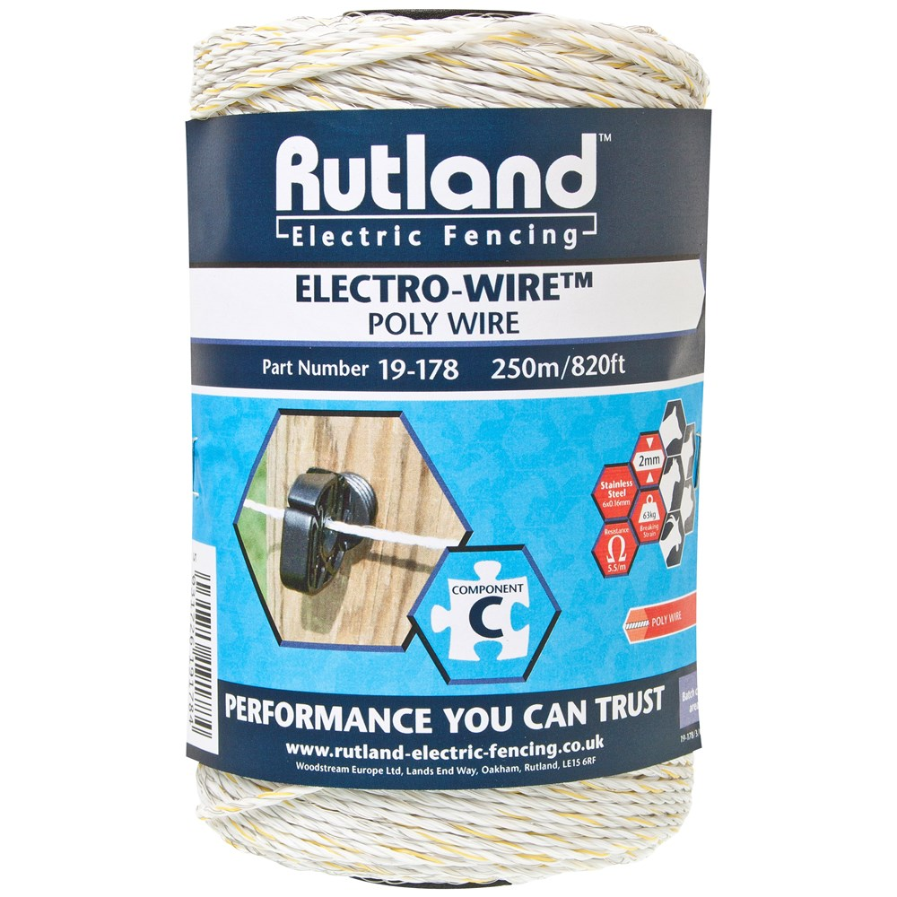 Rutland Standard Electric Fence Wire 250m Fencing Wires