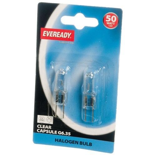 Eveready  Halogen Capsule Light Bulb - 50W G6