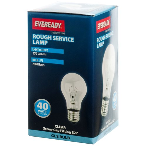 Eveready  Incandescent Rough Service Light Bulb - 40W ES