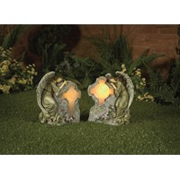 Premier Decorations  Angels with Solar Light Cross