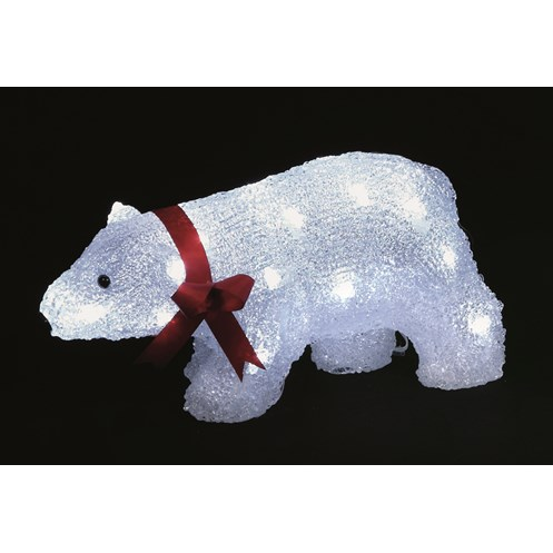 Premier Decorations Standing Light Up Acrylic Lit Polar Bear - 33cm ...