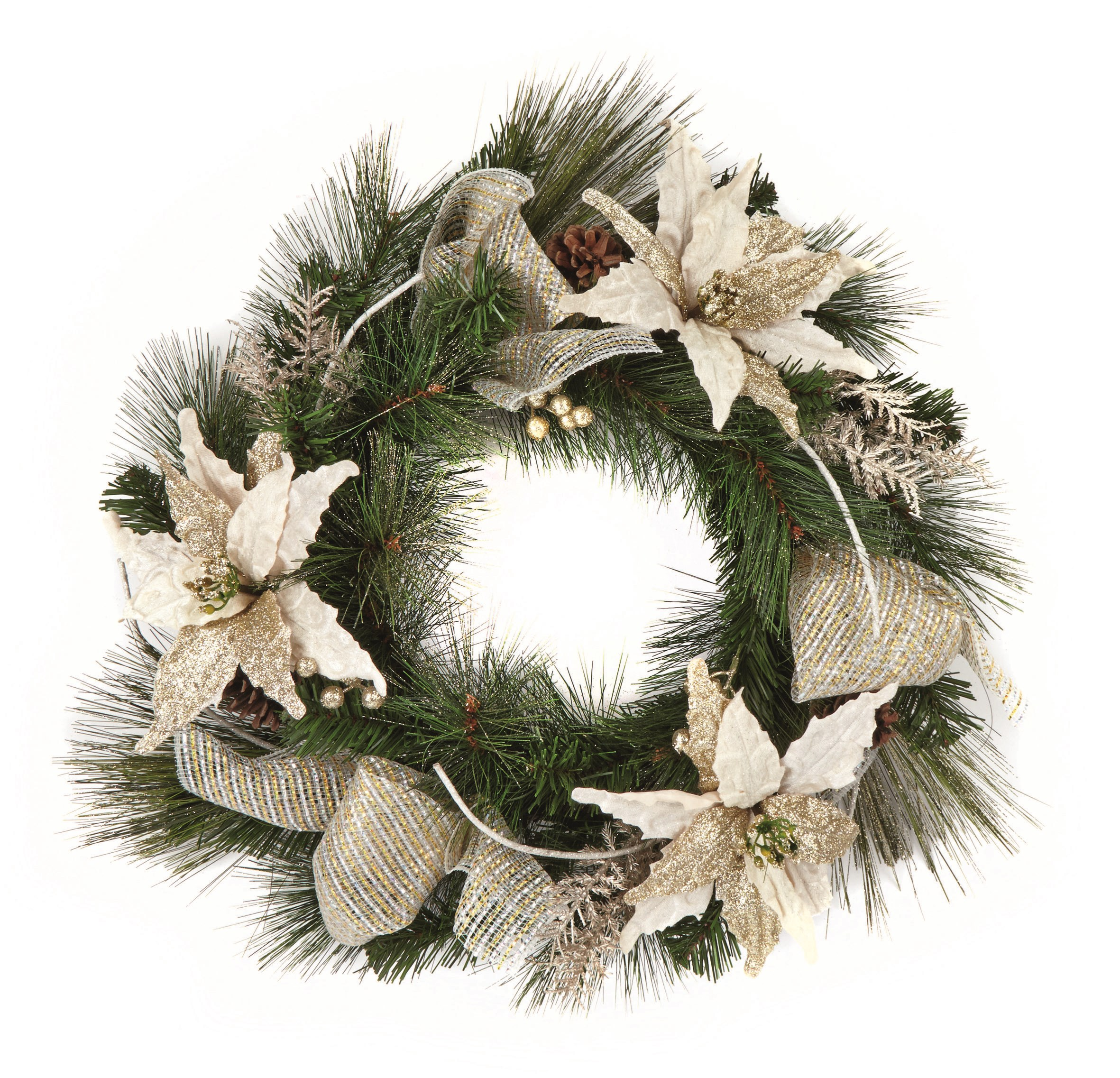 Premier Decorations  Champagne Gold Wreath - 60cm