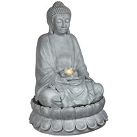 Premier  LED Buddha Water Feature 86cm