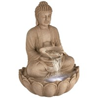Premier  LED Buddha Water Feature - 112.5cm