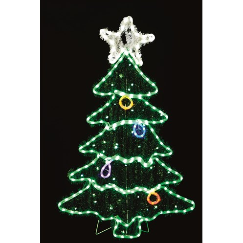 premier decorations soft glow led rope light christmas tree with star 115 x 70cm
