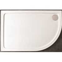 Kristal Low Profile Lefthand Offset Quadrant Shower Tray 1000x800mm