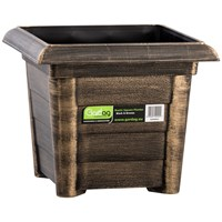 Gardag  Rustic Black & Bronze Square Planter - 32cm