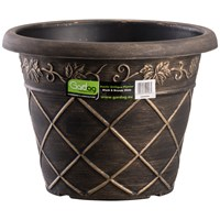 Gardag  Rustic Black & Bronze Antiqua Planter - 35cm