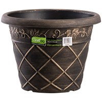 Gardag  Rustic Black & Bronze Antiqua Planter - 45cm