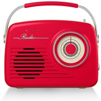 Akai  AM/FM Red Retro Radio