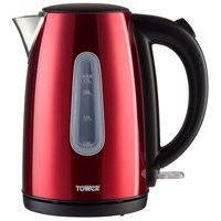 Tower  1.7L Red Stainless Steel Jug Kettle