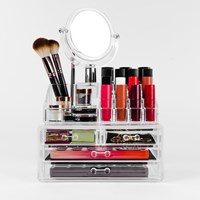 Carmen  Cosmetic Organiser with Mirror